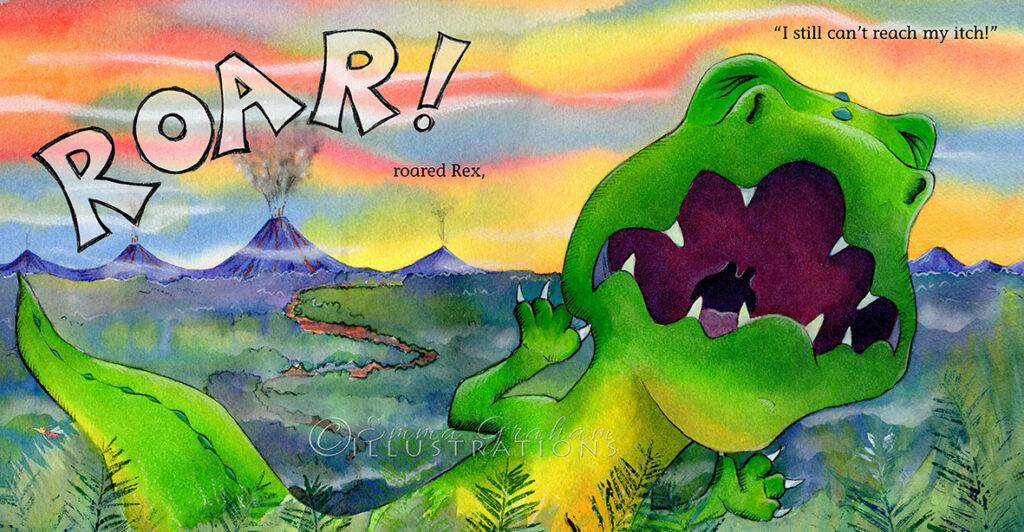 Rex roars in the land of the dinosaurs