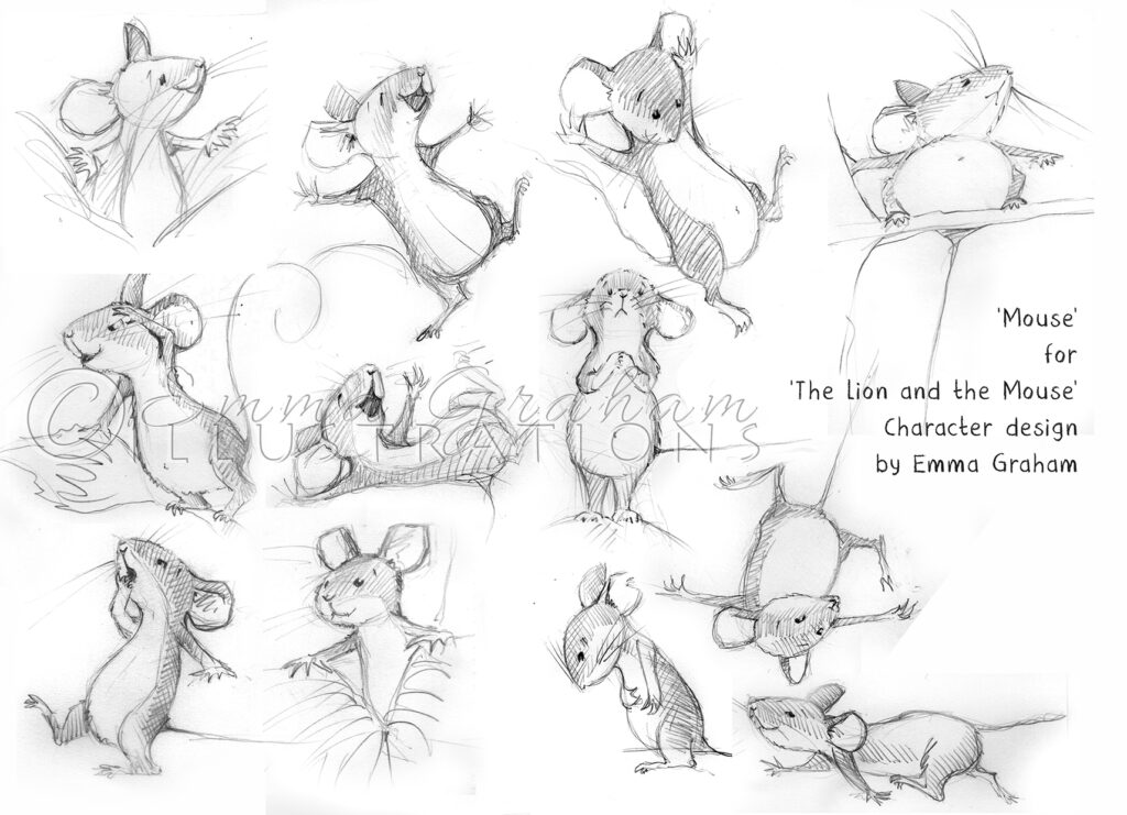 pencil drawings of mouse character